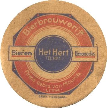 Bierviltje Bierbrouwerij Het Hert Lith (collectie Kees Schrover)